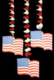 30in x 7in x 5in USA Flag Dangling Cutout