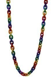 Metallic Rainbow Chain Necklace