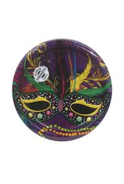 9in Mardi Gras Mask Dinner Plates