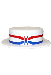 Skimmer/ Derby w/ Red/ White/ Blue Band Styrofoam Hat