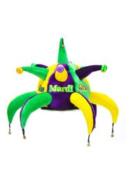 9in Tall 8in Wide x 8in Long Mardi Gras Spike Jester Hat