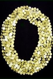 33in Metallic Gold Casino Token Beads