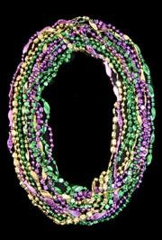 33in 6-Style Assorted Style Mardi Gras Beads