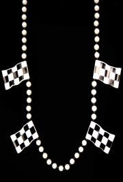 Checker Flag Racing Necklace