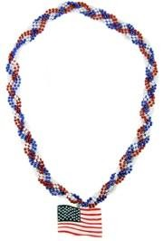 Show your patriotism with red, white, and blue beads.