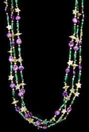 33in Seashell/ Starfish/ Seahorse/ Fish in Purple/ Green/ Gold