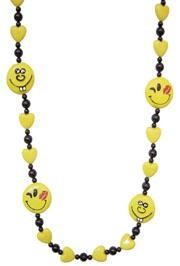 40in Smiley Face w/ Yellow Heart Beads