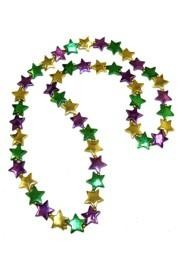 42in Purple/ Green/ Gold Star Bead