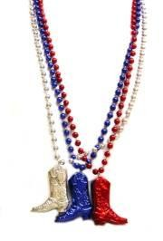 Patriotic Cowboy Boots Necklace