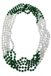 72in 12mm 4 Section Metallic Green/ White AB Beads