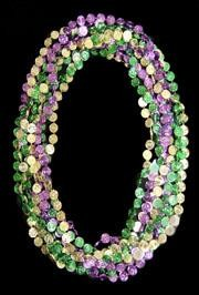 33in Metallic Purple/ Green/ Gold Casino Coins/ Dollar/ Money Beads