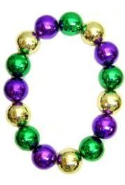 48in 80mm Disco Ball Shape Purple/ Green/ Gold Beads