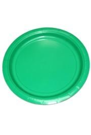 9in Green Heavy Duty Plastic Plates