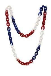 Red, White, and Blue Chainlink Necklace