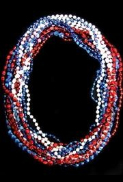 48in 6-Style Super Mix Metallic Red/ Blue/ White AB Beads/ Assorted Styles