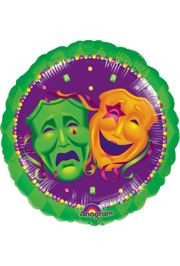 18in Comedy/Tragedy Mylar Balloons