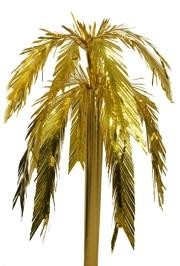 26in Metallic Gold Feather Cut Fountain