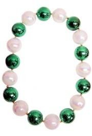 48in 60mm Disco Ball Shape Green/ White AB Beads
