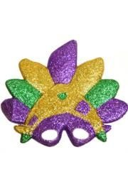 10in x 12in Plastic Purple/ Green/ Gold Sunray Glitter Mask