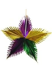 16in Purple/ Green/ Gold Leaf Starburst