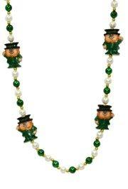 42in Leprechaun w/ Pearl/ Green Beads
