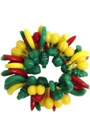 Assorted Color Bunch of Fruit Bracelets Non-Metallic