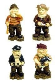 6in x 3in Ceramic/Porcelain Pirate Figurines