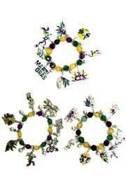 Mardi Gras Charm Bracelets