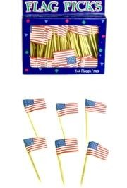 2in x 1.5in USA Flag Picks