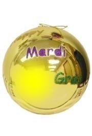 8in/200mm Purple Green or Gold Hanging Happy Mardi Gras Ball Ornaments
