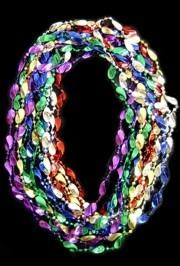 48in Metallic 6 Assorted Color Big Jumbo Twist Beads