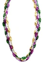 These 72 inch beads will hang below the waist. They are very popular with Mardi Gras parade-goers.