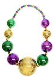 Mardi Gras Big Ball Necklace