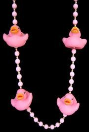 Pink Rubber Duck Necklace