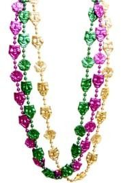 These 48 inch better Mardi Gras throw beads are sure to make you stand out in the crowd!