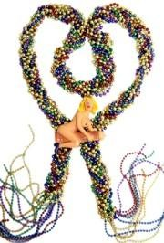 72in Metallic 6 Assorted Color Big Braided Bead w/ Girl on Penis