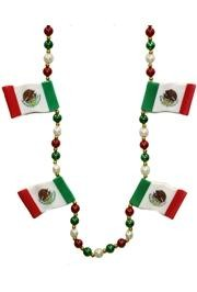 Celebrate Cinco De Mayo with festive beads and necklaces for the occasion.