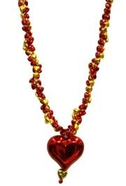 Braided Hearts with Red Heart Medallion