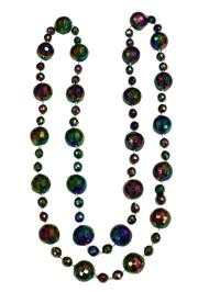 48in 20mm w/ 10mm Spacers Disco Ball Shape Black  Rainbow AB Beads