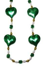 Green Hearts Necklace