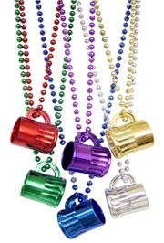 Color Beer Mugs Necklaces