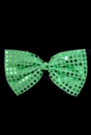7in x 4 1/4in Glitz N Gleam Bow Tie Green