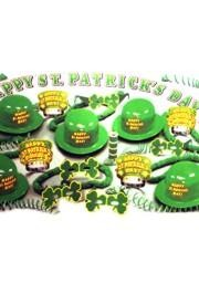 Decorating for a party or a St. Patrick's parade float? We have table and party supplies. Our decorations include Petal Paper for floats, metallic green fringe, shamrock table runners, and green plastic table skirts.  We also carry St. Patrick's Day paper plates, Irish shot glasses, and St. Paddy's Day hurricane cups.