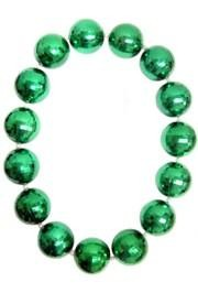 48in 80mm Disco Ball Shape Green/ White AB Spacers Beads