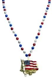 42in USA Flag Medallion Bead
