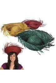 24in circ. Adult Assorted Colors Straw Hats