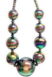 Big Balls Necklace: AB Black