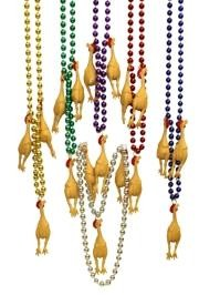 33in 10mm Chicken w/ 6 Assorted Color Beads