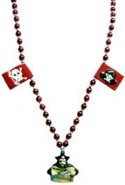 Red Treasure Map Necklace