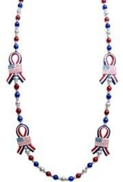 42in Red/ White/ Blue Ribbon Necklace